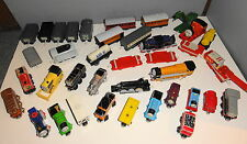 VINTAGE THOMAS TRAIN LOT WOOD AND PLASTIC 38 PIECES TOTAL