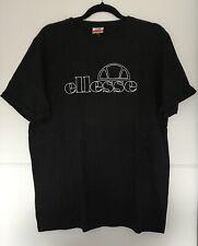 Ellesse Black Speckled T-shirt UK Size 14