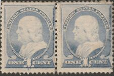 KAPPYSSTAMPS SF186 SCOTT 206 OG MINT NEVER HINGED PAIR STAINED CATALOG= $580