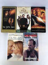 Vhs Bruce Willis Movies Lot Of 5 Die Hard Sixth Sense Armageddon Vcr Movie Tapes