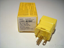 New HUBBELL HBL5364VY AC Plug NEMA 5-20 Male Valise Yellow