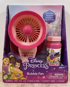 Disney Princess Bubble Fan W/ Bubble Solution & Bubble Tray NIB