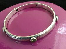 SILPADA Hammered Sterling Silver Garnet Amethyst Peridot BANGLE BRACELET B1698