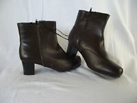 BNWT Ladies Sz 6 Rivers Brand Super Soft Dark Brown Mid Heel Ankle Boots RRP $60