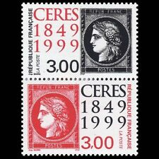 STAMP / TIMBRE FRANCE NEUF N° 3212A ** EN PAIRE 150 ANS DU TIMBRE 1999 - CERES