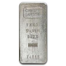 1 kilo Silver Bar - Credit Suisse - SKU #54770