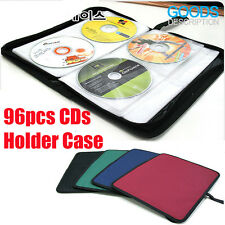96 DISC CD DVD Music Movie Portable DJ Bag Case Holder Wallet Storage Pack Carry