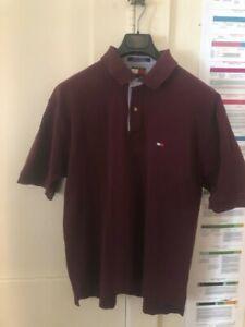 Tommy Hilfiger Men Maroon Polo Shirt sz XL