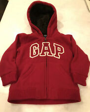 BabyGap boys logo hoodie Jacket Quilted Lining size 4 years Fur Lined Hood Thick