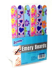 """Wholesale Lot of 48 -  7"""" Emery Boards On Counter Display Retail Ready Cheap New"""