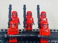 Star Wars CUSTOM First Order Sith Trooper 5 Minifigure MOC Lot Set -USA-