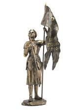 "15"" Joan of Arc w/ Sword & Flag France Home Decor Sculpture Figure Statue"