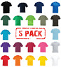 5 x Fruit Of The Loom ORIGINAL FULL CUT T-SHIRT TEE PLAIN COTTON MEN'S 5 PACK