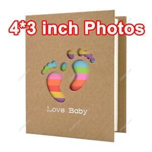 4 inch Mini Photo Album 200 Pockets Picture New Baby Birthday Gift Slip in Album