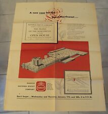 """1951 Advertising POSTER~New OREGON Factory~""""The NABISCO Company"""""""