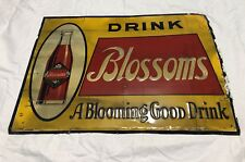 "Blossoms Cola Early 1930's Sign - 27 1/2"" x 20"" - Cherry Blossoms - St.Louis, MO"