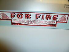 Decal/Sticker For The Red Ball Fire Extinguisher Grenade Storage Box