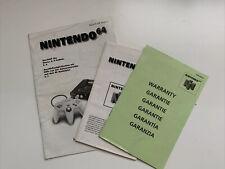 1996 Nintendo 64 N64 3x Anleitung Manual Booklet NUS-S-HE-NOE-4, NUS-EUR-1 & -6