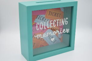 NEW WOODEN GLASS COLLECTING MEMORIES SHADOW FRAME MEMORY BOX STORE TICKETS CARDS