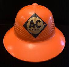 Vintage Allis Chalmers Pith Helmet Orange AC Sun Hat Farm Equipment Collectible