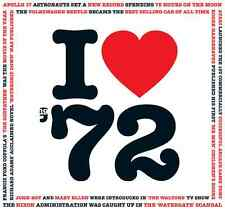 45th Birthday or Anniversary Gift - I Love 1972 Compilation CD Greetings Card