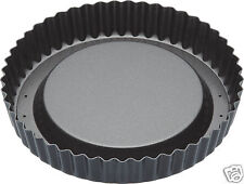 "Kitchen Craft MC Non-Stick Loose Base Fluted Raised Sponge Flan Tin 8"" KCMCHB84"