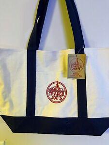 Trader Joe's Reusable Canvas Tote/Beach/Grocery Shopping Bag ~ HEAVY DUTY