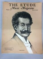 Vintage The Etude Music Magazine March 1937 Johann Strauss Jr