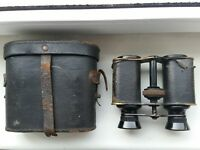 Antique Lumiere Paris binoculars with case , made in France