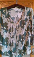 Ladies green / khaki camouflage pattern Blouse - size 12, 3/4 sleeve