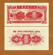 China, Amoy Industrial Bank 1 Cent (1940) Pick S1655, UNC