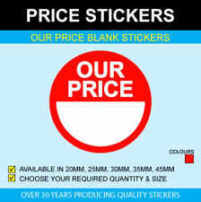 Our Price Stickers - Available In 5 Sizes