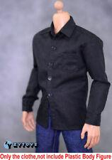 ZC Toys 1/6 Scale Black Shirt + Jeans Suit Fit Man Body