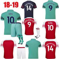 18/19 Football Soccer Kid Youth Club Kit Training Jersey Short Sleeve Suit+Socks