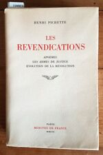 EO N° HORS COMMERCE + HENRI PICHETTE + 10 ILLUSTRATIONS : LES REVENDICATIONS