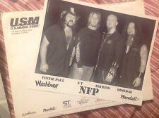 NFP Damageplan Original Lineup Promo Photo Dimebag Darrell & Vinnie Paul Abbott