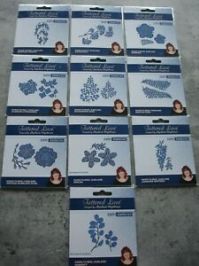 10 x Tattered lace Cut + Emboss dies Flowers SEE LISTING FOR DETAIL NEW