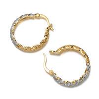 18k Gold Filled Women Jewelry White Topaz Dangle Anniversary Drop Earrings HOT