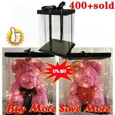 Gift Rose Bear Artificial Flowers Box For  Birthday Wedding Valentine Gifts