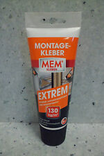 MEM Montage-Kleber EXTREM 250g für Stein Isolierplatten Dekorbalken und Styropor