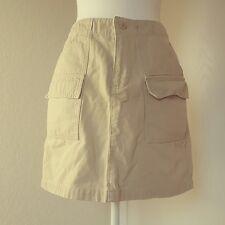 Gap Surplus Womens Casual Khaki Cargo Skirt Size 4 Flap Pockets    391
