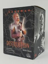 """DESTRUCTION Limited Edition Sandman 6"""" Mini Bust DC Direct #521/650"""