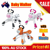 OZ Baby Walker Cow Ride On Toy Child Bike Bicycle Musical Push Scooter Toddler