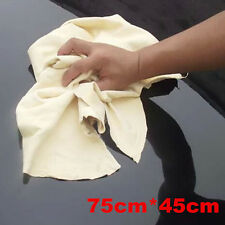 Natural Chamois Leather Car Cleaning Cloth Washing Suede Absorbent Towel 75*45cm