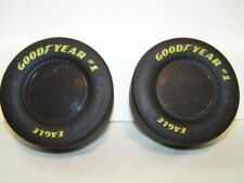"Set of 2 Goodyear Tires Nascar Racing Tires Rubber 3.5"" X 1.5"" Eagle -Replicas"
