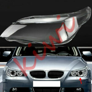 For BMW 5series E60 04-09 1Pcs Left Side Headlight Cover Replacement With Glue