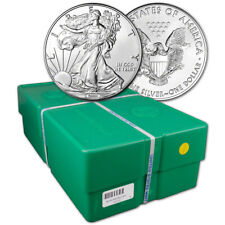 Random Date American Silver Eagle 1 oz $1 - 500 Bu Coins in Sealed Monster Box