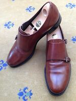 Prada Mens Shoes Brown Leather Monk Buckle Loafers UK 10 US 11 EU 44 2OA 013