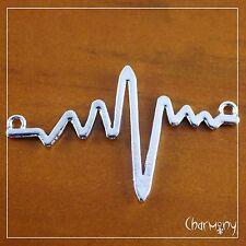 Huge ECG connector charm ~1pc~ heartbeat EEG medical cardiologist for pendant
