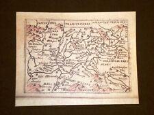 Mappa della Transilvania Theatrum Orbis Terrarum 1724 Abraham Ortelius Ristampa